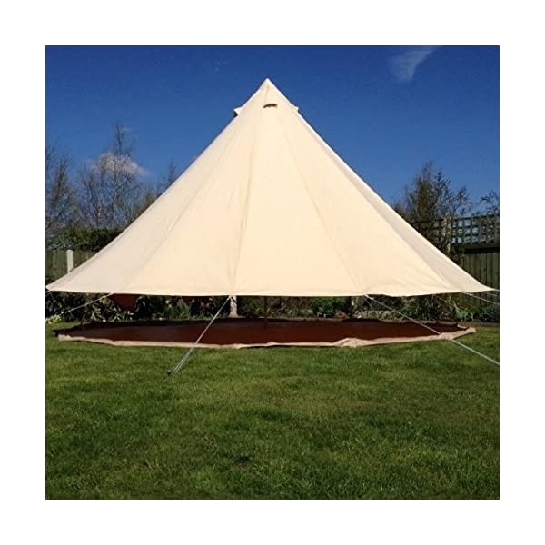 Boutique Camping 4m Sandstone Bell Tent With Zipped In Ground Sheet 5