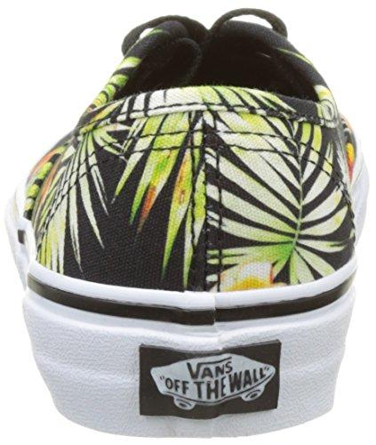 Vans Uy Authentic, Baskets Basses Garçon Noir (Decay Palms)
