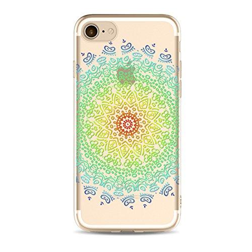 iPhone 6S Plus Hülle,iPhone 6 Plus Cover,JAWSEU Cool Feder Traumfänger Tier Muster Klar Weich Crystal Clear Soft Transparent Ultradünn Silikon Handyhülle Schutzhülle Etui Tasche Durchsichtig Tpu Backc Muster#16