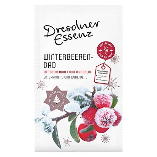 Dresdner Essenz 1 Tüte Pflegebad Wellnessbad Winterbeerenbad 1 x 60 g, Badezusatz, Intensiv-Pflegekomplex mit Beerenduft & Madelöl