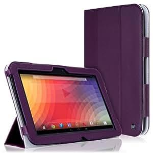 CaseCrown Bold Trifold Cas (Violet) pour Google Nexus 10 (réveille et redresse)