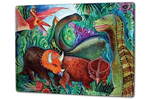 Cartel Letrero de Chapa XXL Dinosaurio Plantas