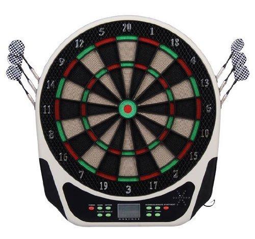 #Homcom Elektronische Dartscheibe Dartboard Dartscheibe als Geschenk inkl. Pfeilen Flights und Spitzen#