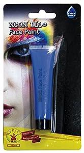 Rubies - Maquillaje Neon para Cara, Talla única, Color Azul (33663)