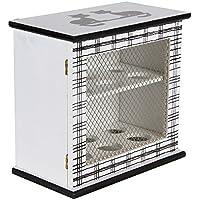 BE LEAF\'S Gabinete de huevo de madera, blanco, tiene 12 huevos, 2 estantes con 6 ranuras cada uno, Almacenamiento de alimentos Rack Holder Cupboard