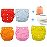 Fairy Baby Winter Baby Gift Set - Pack Of 5 Adjustable Thick Cloth Diapers - B01FHDUCS4