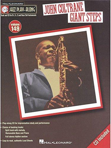 Jazz Play-Along Volume 149: John Coltrane – Giant Steps. Sheet Music, CD for B Flat Instruments, E Flat Instruments, C Instruments, Bass Clef Instruments