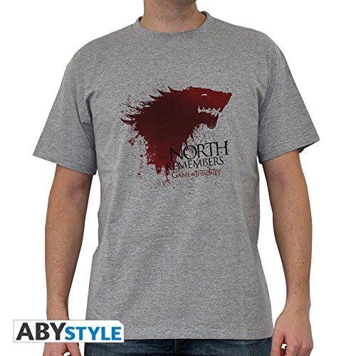 ABYstyle abystyleabytex231-l Abysse Juego de Tronos el Norte de Manga Corta Hombre Basic Camiseta (Grande)