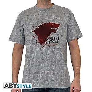 ABYstyle abystyleabytex231-xxl Abysse Juego de Tronos el norte de manga corta Hombre basic camiseta (2x -Large)