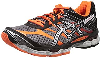 Asics Men's Gel-Cumulus 16 White and Orange Mesh Running Shoes - 13 UK