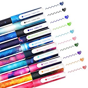 SITAKE 10 bolígrafos Kawaii divertidos