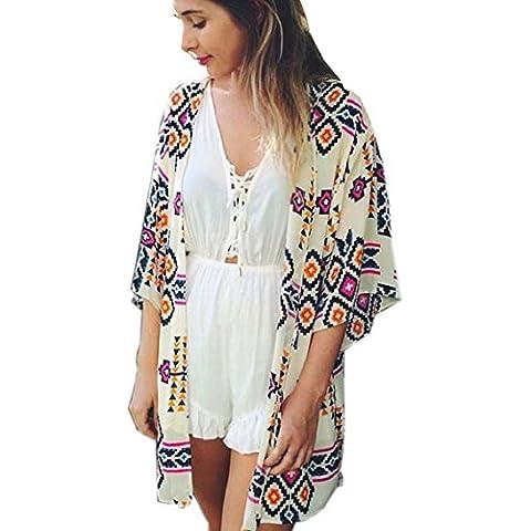 Bocideal Chaqueta tipo kimono para mujer, de gasa