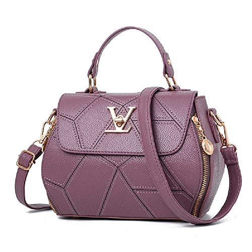 SHUIZAI Handtasche Handtasche, Schultertasche, Kuriertasche 21 * 9 * 18cm/AO Traumschloss dunkelviolett
