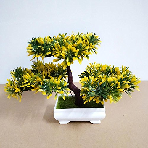 LWBAN-plant Plante Artificielle Bonsaï cèdre Artificiel en Pot, Arbre Artificiel/Bonsai déco, Hauteur 20 cm, 30