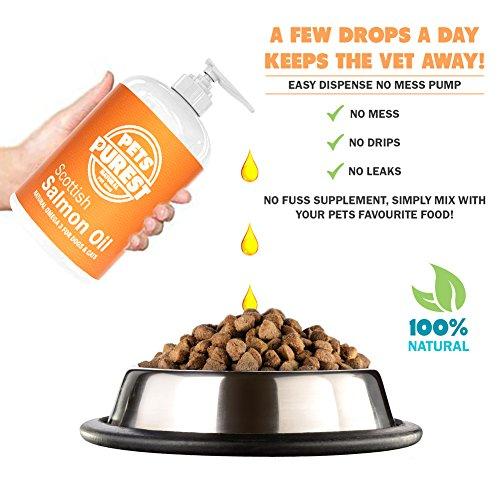 Pets-Purest-500ml-100-Natural-Premium-Food-Grade-Pure-Scottish-Salmon-Oil-Omega-3-Supplement-for-Dogs-Cats-Horses-Pets-Promotes-Coat-Joint-and-Brain-Health