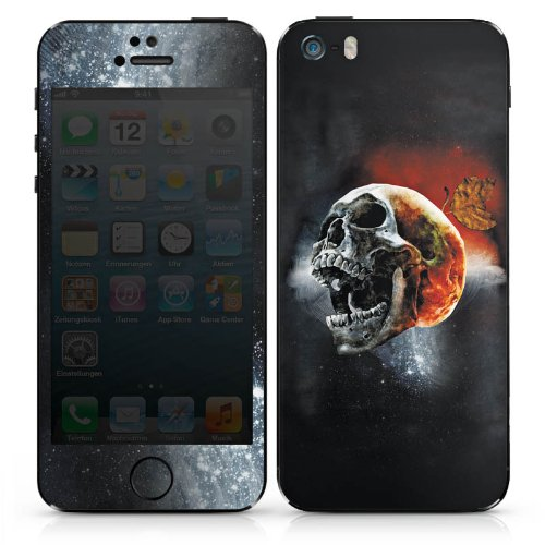 Apple iPhone 5s Case Skin Sticker aus Vinyl-Folie Aufkleber Totenschädel Kopf Scream DesignSkins® glänzend