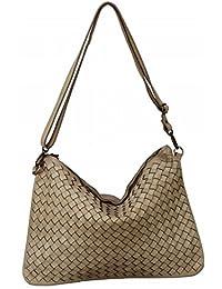 6590762bde BOZANA Bag Emma Beige Italy Designer Clutch Borsa a tracolla in pelle da  donna borsa a
