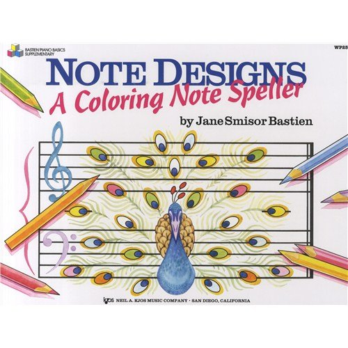 Jane Smisor Bastien: Note Designs - A Coloring Note Speller. Pour Piano