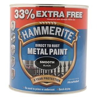 Hammerite 5158235 Metal Paint, Smooth Black,750ml