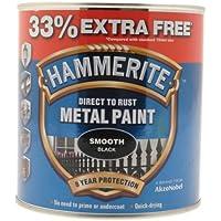 Hammerite 5158235 Metal Paint, Smooth Black, 1L