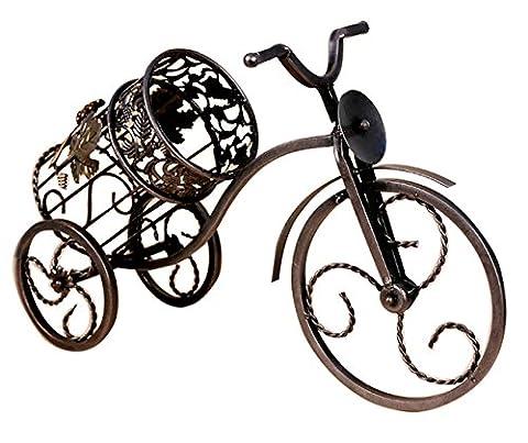 ZRJNYL Creative Tricycle Wine Racks Iron Retro Coffee Gold Red Wine Présentoir Advanced Paint Process Porte-bouteille de vin Salon Salle à manger Étagères à vin rouge Porte-bouteille de vin Porte-bouteilles