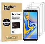 iVoler [4 Unidades] Protector de Pantalla para Samsung Galaxy A7 2018 / J6 Plus 2018 / J4 Plus 2018, Cristal Vidrio Templado Premium para Samsung Galaxy A7 2018 / J6+ 2018 / J4+ 2018