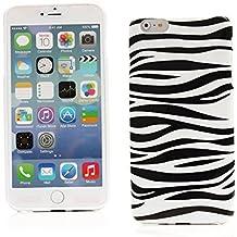 "Kit Me Out ES Funda de Gel TPU para Apple iPhone 6 Plus 5.5"" pulgadas - Negro, Blanco Cebra"