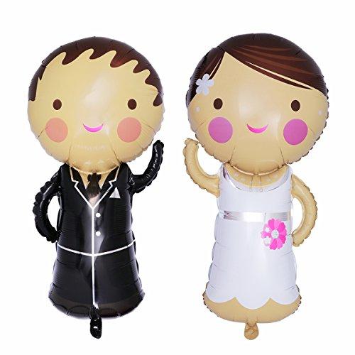 TOYMYTOY Brautpaar Folienballon Hochzeit Braut und Bräutigam Ballon 2 Stücke