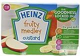 Heinz Fruity Medley Custard Pots (Pack of 3, Total 12)
