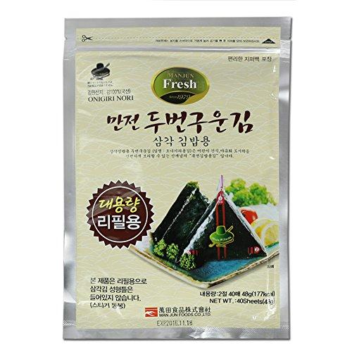 L'elixir alimentare uomo jun onigiri nori riso palla triangolo sushi alga wrapper, 40 fogli