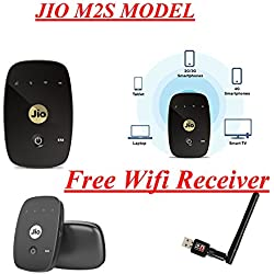 Pcs System - Reliance Jio Fi2 M2S 150mbps (LTE+VOLTE) Supported 4g Wifi Router Usb (Wired + Wifi) Hotspot (Support only Jio4g New Or Old Prepaid & post Paid Simcards) With Free Offer Wifi receiver With Antena For Desktop/laptop Windows Xp Sp3/7/8/8.1/10 Supported
