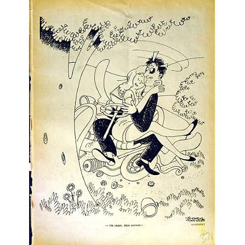 Impresión Antigua del Coche Francés del Romance de la Revista del Humor de Le Rire (la Risa)
