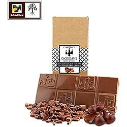 Chocolate artesano con leche y castañas