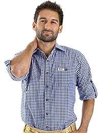 Almbock Trachtenhemd Herren kariert - Slim-fit Männer Hemd in vielen Karo Farben - Hemd aus 100% Baumwolle in den Größen S-XXXL