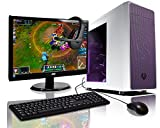 ADMI GAMING PC PACKAGE: Powerful Desktop Computer, 21.5 Inch 1080p Monitor, Keyboard & Mouse Set (PC SPEC: AMD A6-6400K 4.1GHz Dual Core Processor with Radeon HD 8470D Graphics, USB 3.0, 500W PSU, 1TB Hard Drive, 8GB RAM, 24 x DVDRW Drive, Wifi, Bitfenix Neos Case with Side Panel Window, Pre-Installed with Windows 10) (White/Purple)