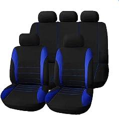 Gaosheng Universal Sitzbezug Schonbezug Autositz Schnelle Montage Sitzauflage Auto Autositzbezüge Autoschonbezüge Front Abdeckung für Autositz Blau