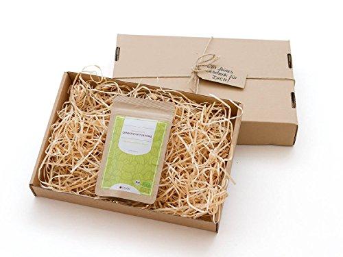 Gesundes Tee-Geschenk: Grüner Tee Genmaicha Yukihime, BIO, Premium. 50 g, lose, nicht aromatisiert. Kleiner Tee-Garten Präfektur Yame/Fukuoka. Feinster japanischer Sencha, Natur-Reis, mild, Röst-Aromen. Geschenk-Verpackung und Grußkarte (Jasmin Koffein Grüner Frei Tee)