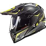 LS2 MX436 Casque de Motocross Double Visière pour Scooter Chopper Quad VTT Casque de...