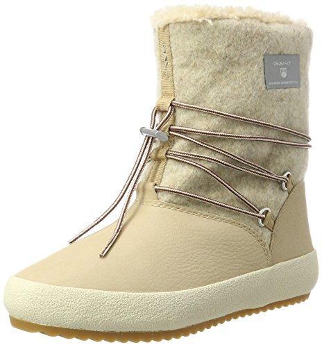 GANT FOOTWEAR Damen Amy Stiefel, Beige (Warm Khaki/Camel), 42 EU (Stiefel Wildleder Camel)