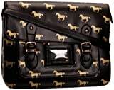SwankySwans Unisex Child Cedric Vintage Horse Print Satchel Black SS01049
