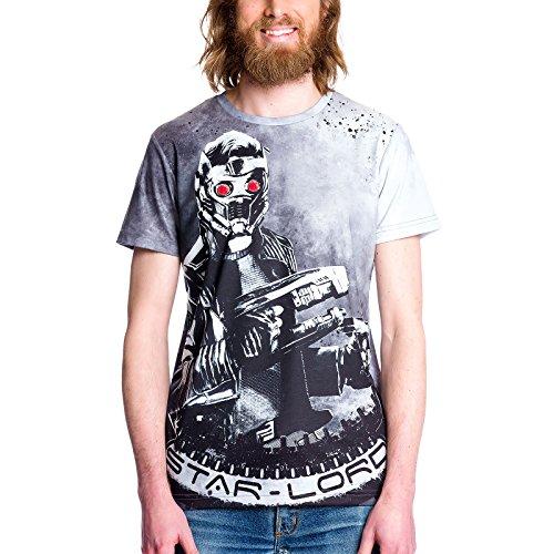 axy Vol. 2 T-Shirt Herren Epic Star-Lord Allover Print von Elbenwald - M ()