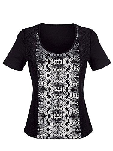 Damen Shirt mit glänzendem Schlangendruck by Laura Kent pink/schwarz/sand