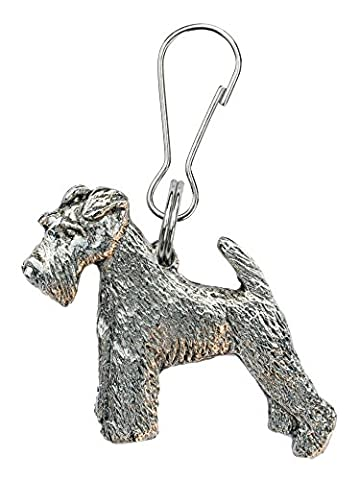 Wire Fox Terrier Made in U.K Artistic Style Dog Zip Pull Collection