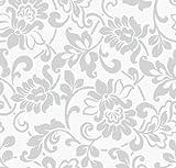 Klebefolie - Möbelfolie Ornamente Silber Grau - 45 cm x