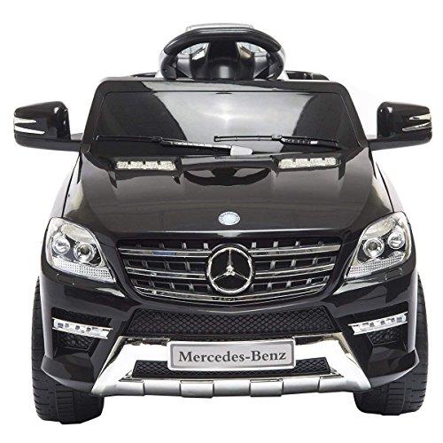 Mondial Toys AUTO ELETTRICA PER BAMBINI 6V 2 MOTORI CON TELECOMANDO 2.4G MERCEDES BENZ ML 350 SUV NERO