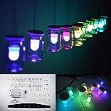 Seasiant India DIY Aurora RGB Full Color LED Glass Wind Chimes Hanging Lamp Kit Single Item.