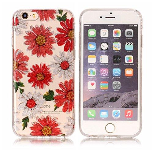 "Apple iPhone 6 6S 4.7"" Hülle, SATURCASE Schönes Muster Bling Ultra Dünn Weich TPU Gel Silikon Schützend Zurück Case Cover Handy Tasche Schutzhülle Handyhülle Hülle für Apple iPhone 6 6S 4.7"" (Muster-1 Muster-7"