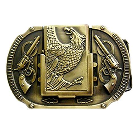 Buckle Eagle with Eagle Lighter Belt Buckle