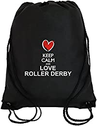 Idakoos Keep calm and love Roller Derby chalk style - Deportes - Bolsa deportiva