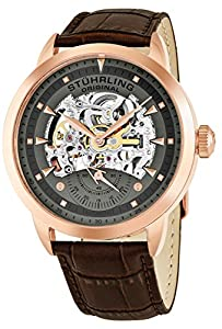 Stuhrling Original Executive - Reloj para hombre color gris / marrón de Stuhrling